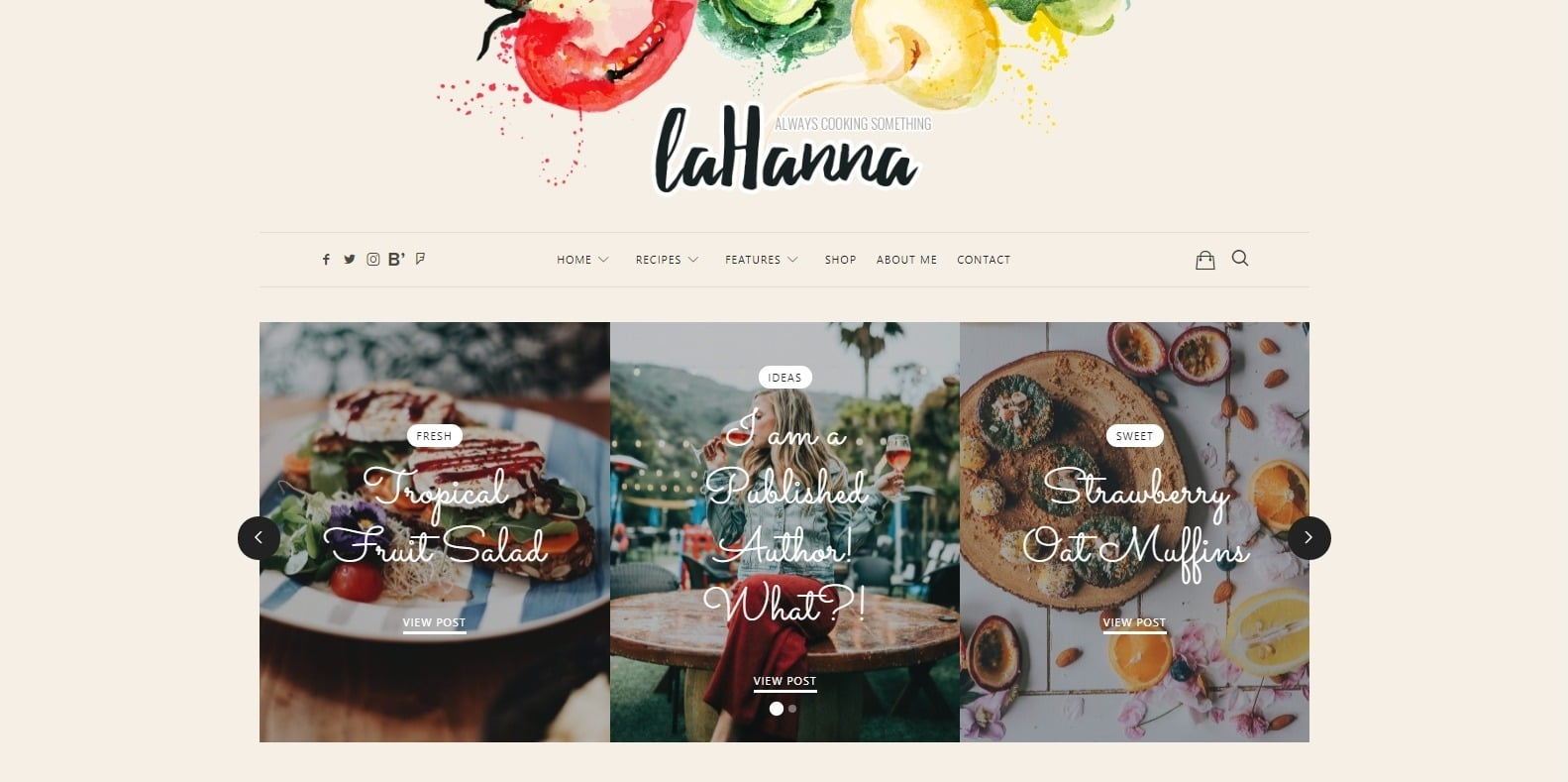 lahanna-food-blog-website-template
