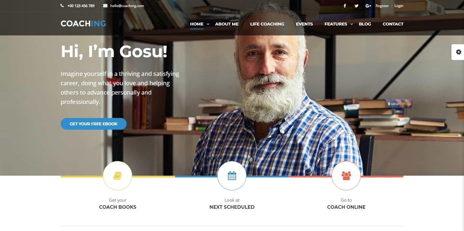 life-coaching-website template