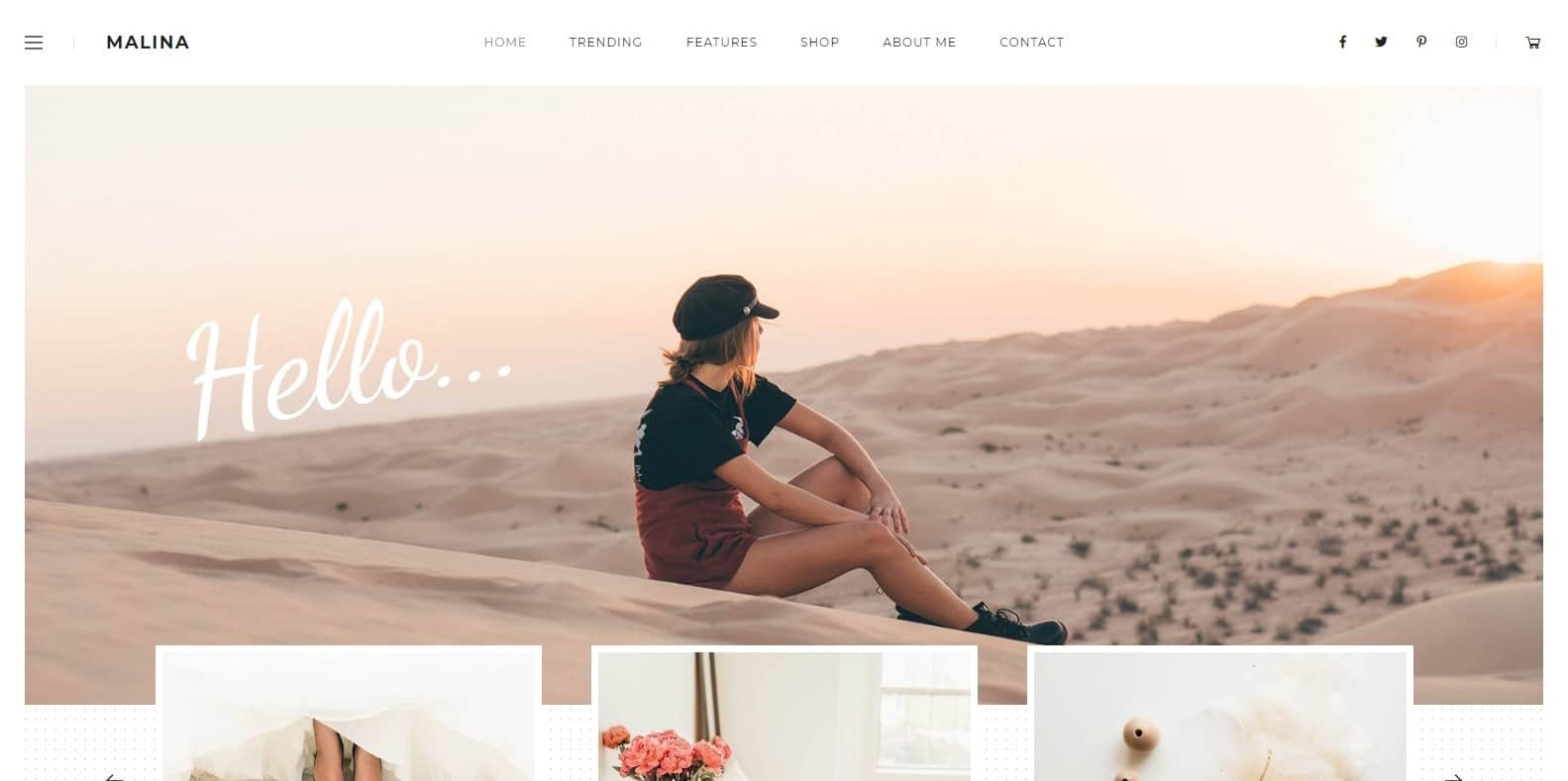 malina-food-blog-website-template