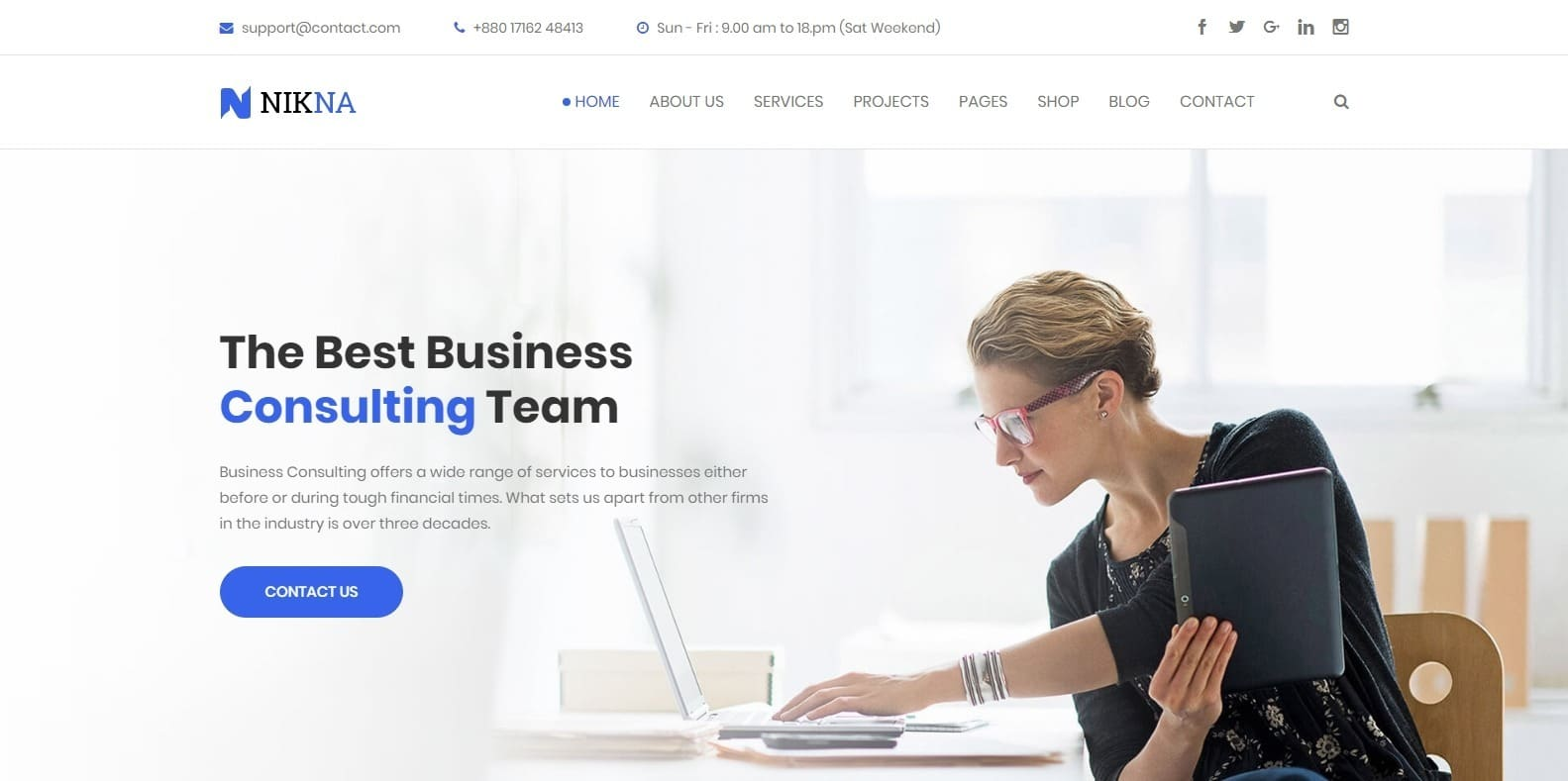 nikna-consulting-website-template
