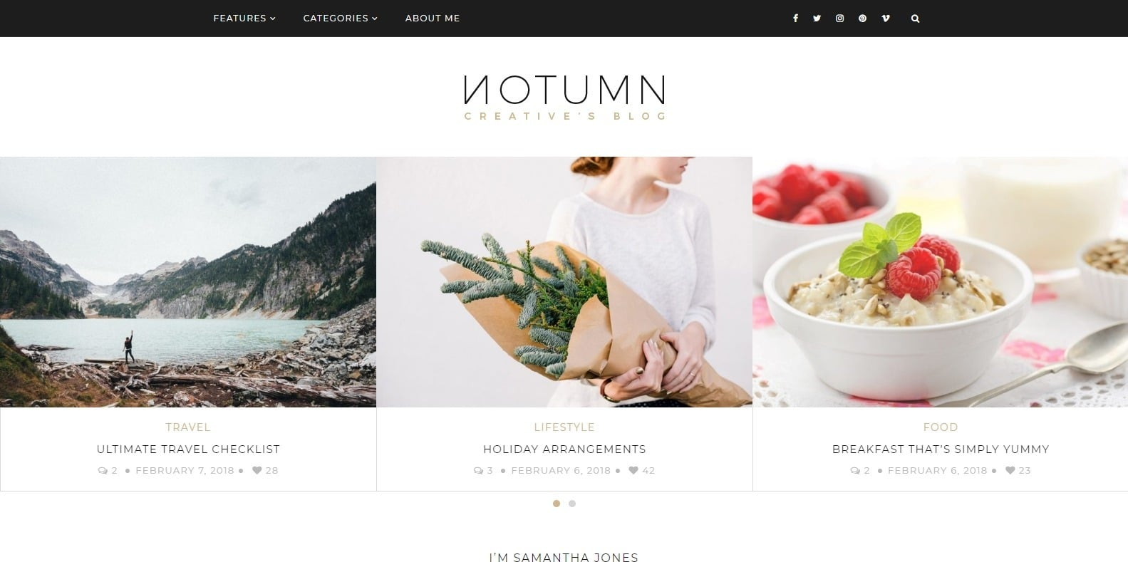 notumn-food-blog-website-template