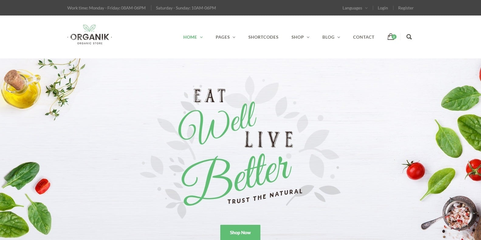 organik-food-blog-website-template