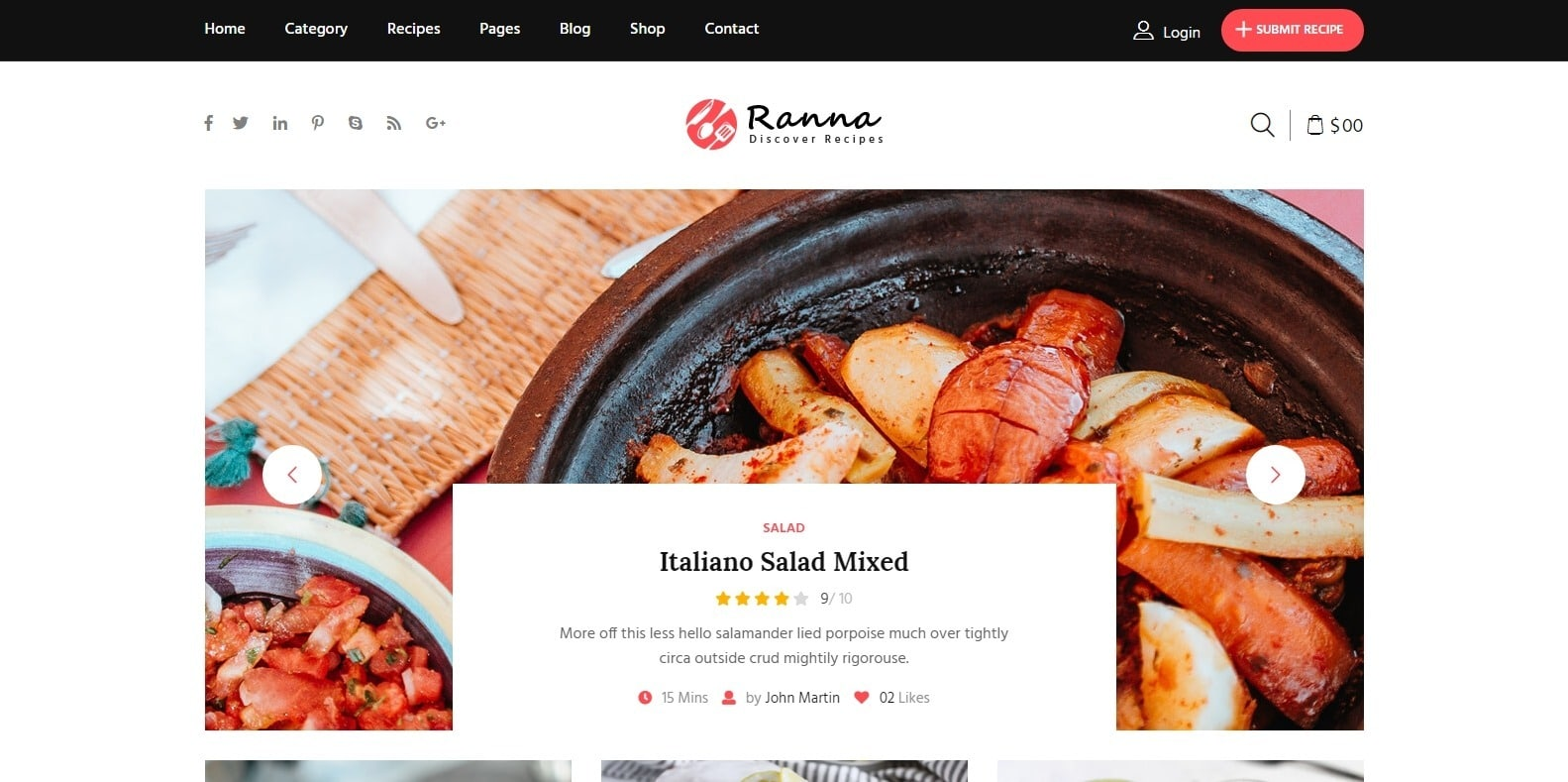 ranna-food-blog-website-template-html