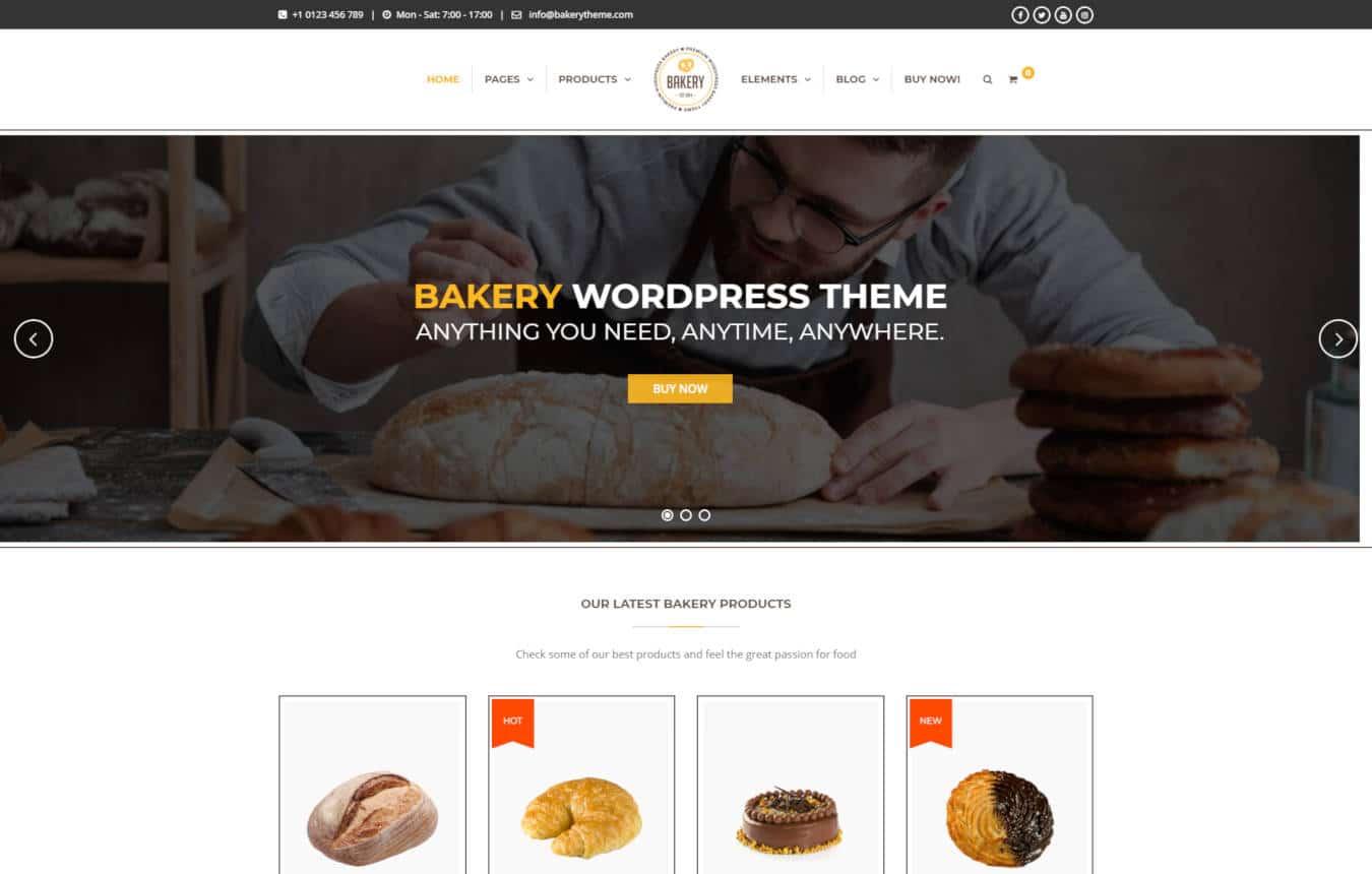 restaurant website templates bakery