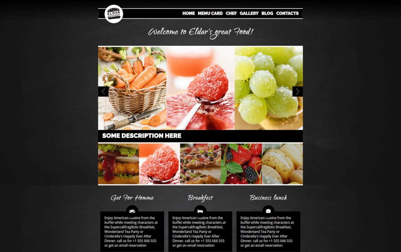 restaurant website templates eldar
