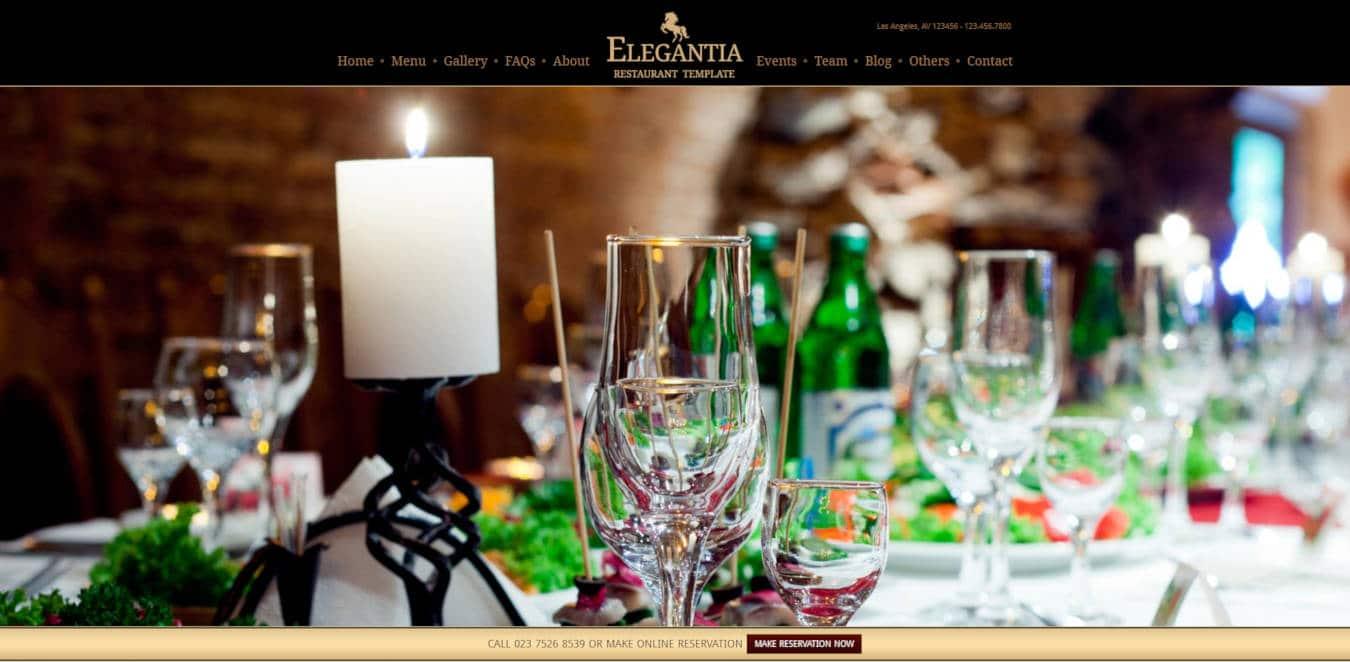 restaurant website templates elegantia