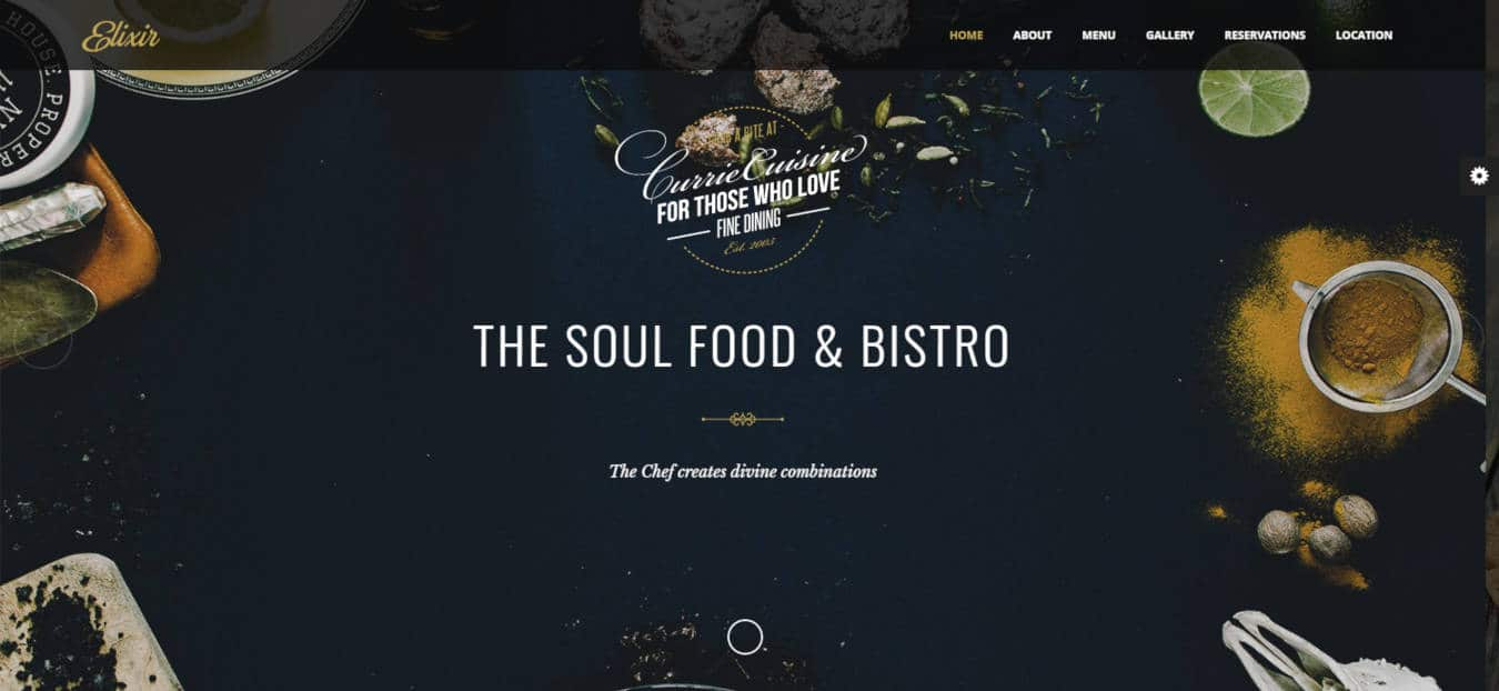 restaurant website templates elixir