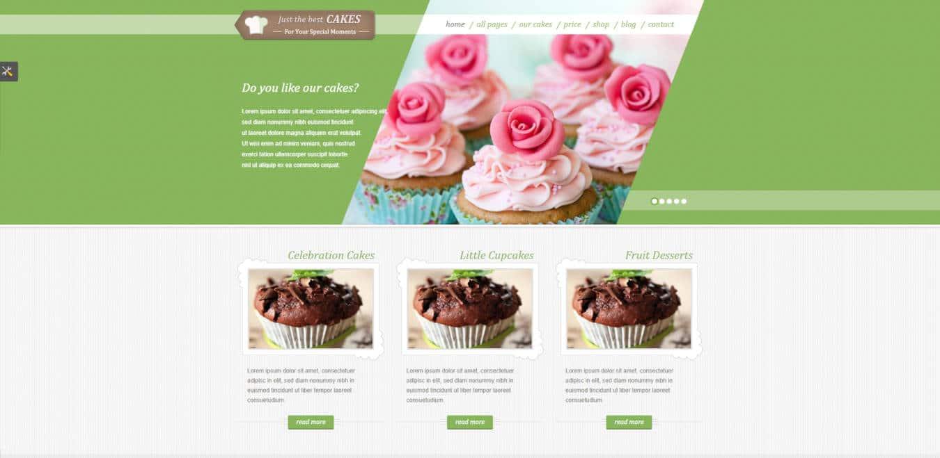 restaurant website templates justcakes
