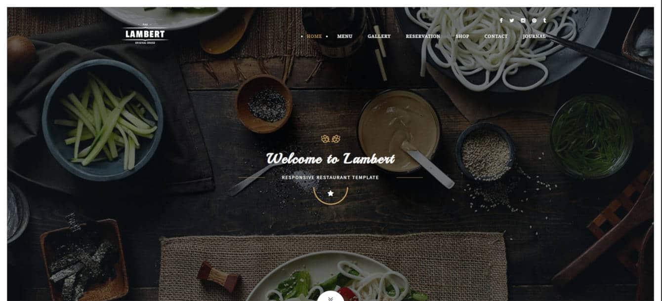restaurant website templates lambert