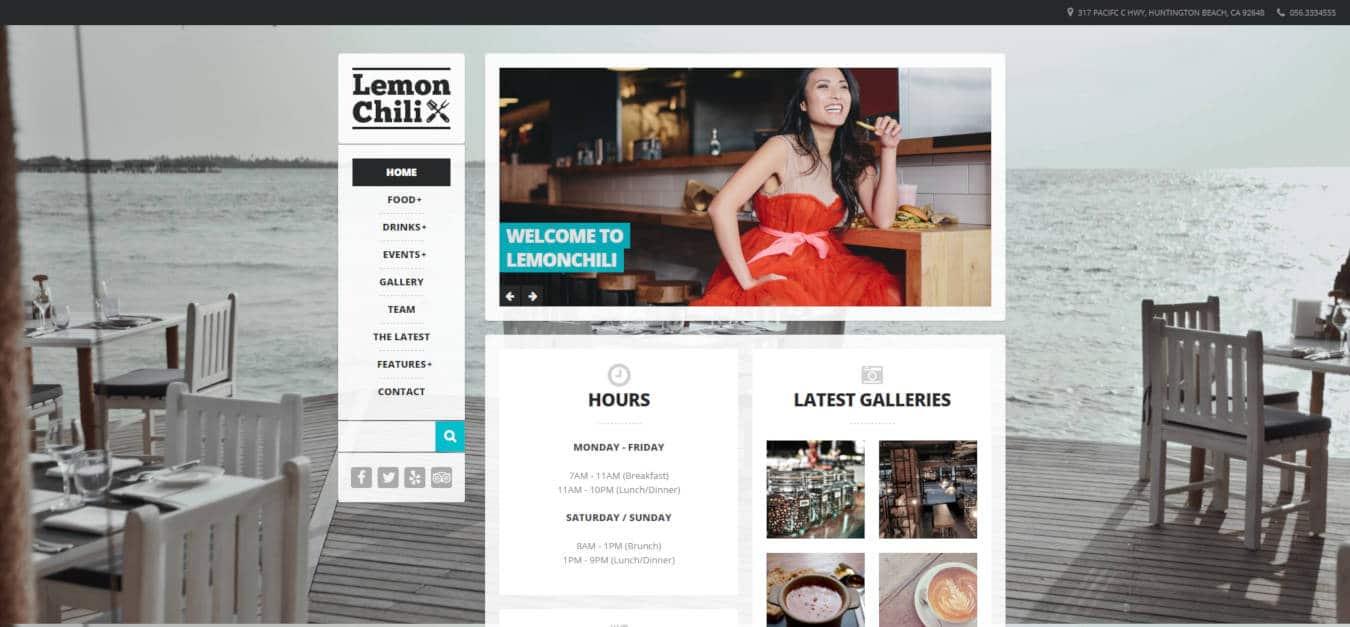 restaurant website templates lemonchili