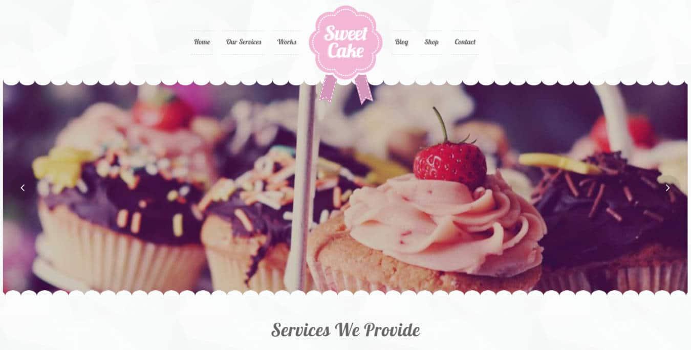restaurant website templates sweetcake