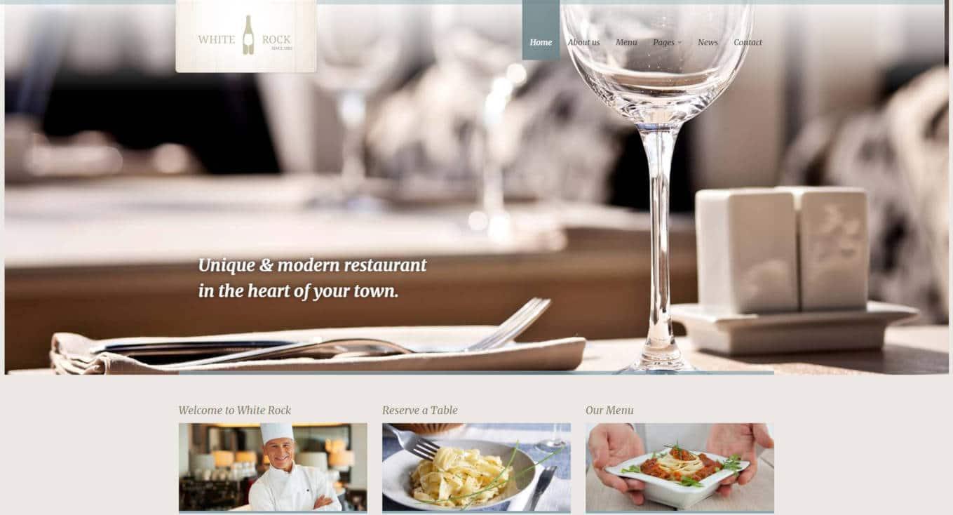 restaurant website templates white rock