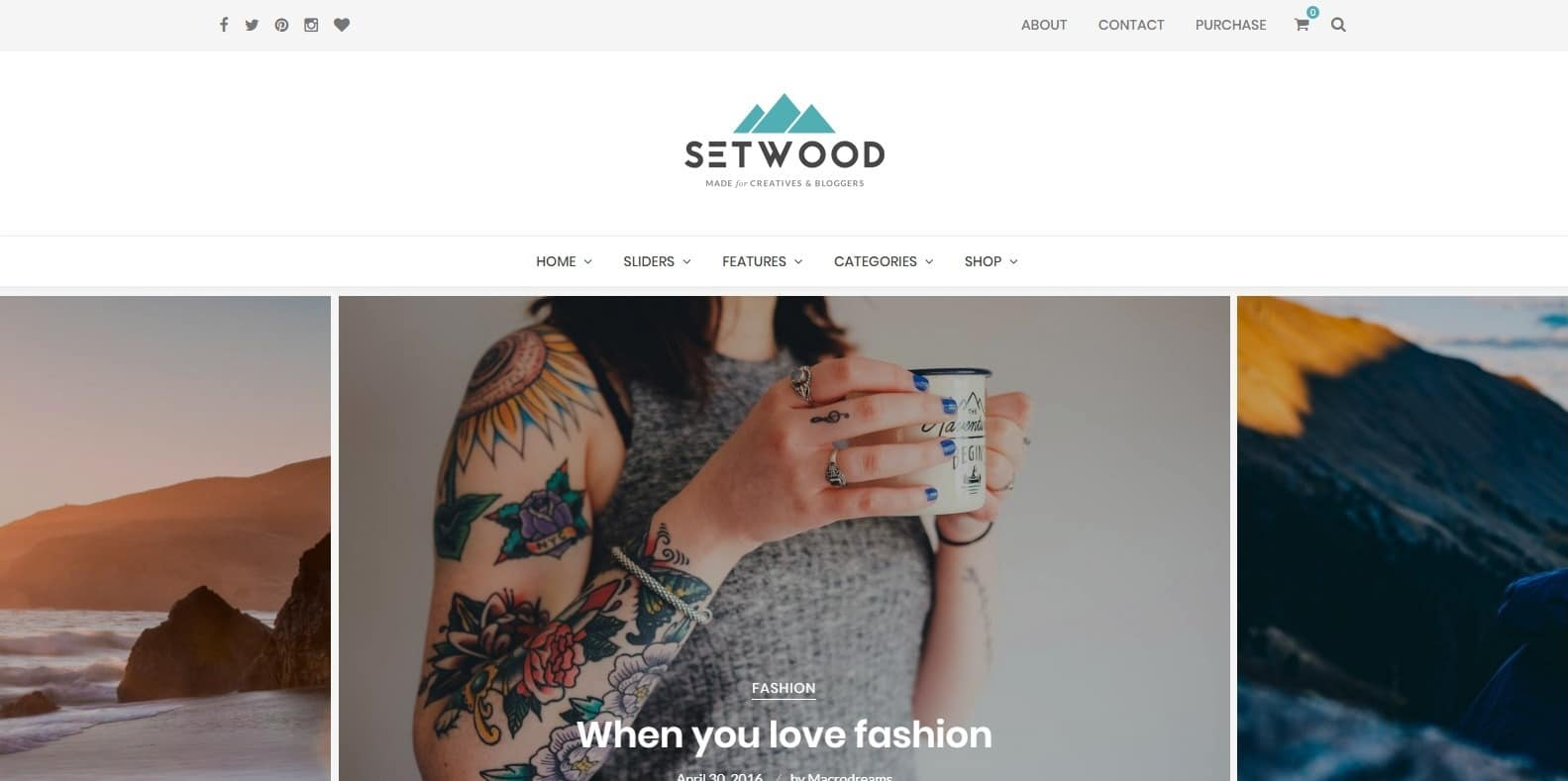 setwood-food-blog-website-template