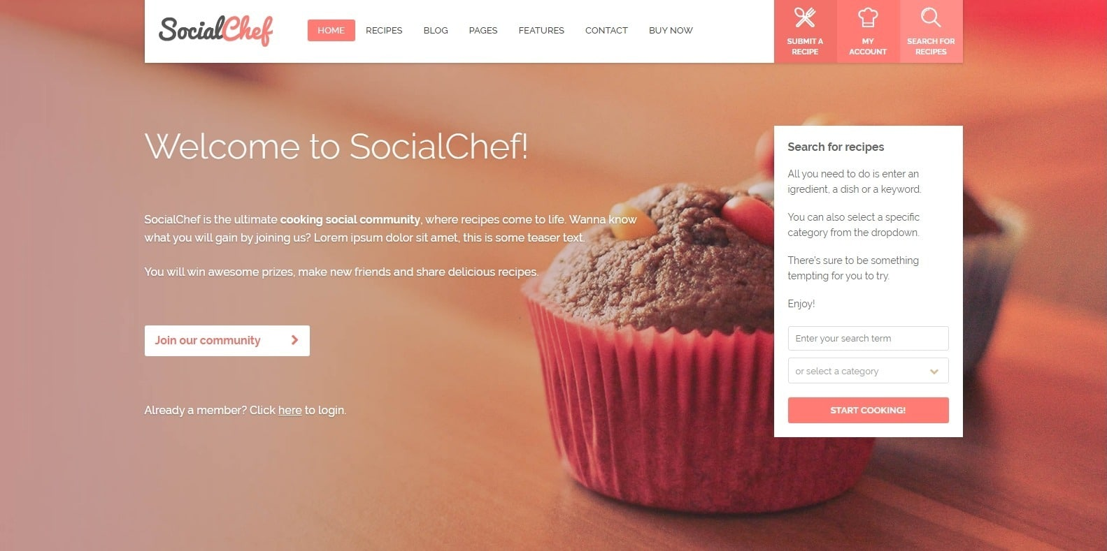 social-chef-food-blog-website-template