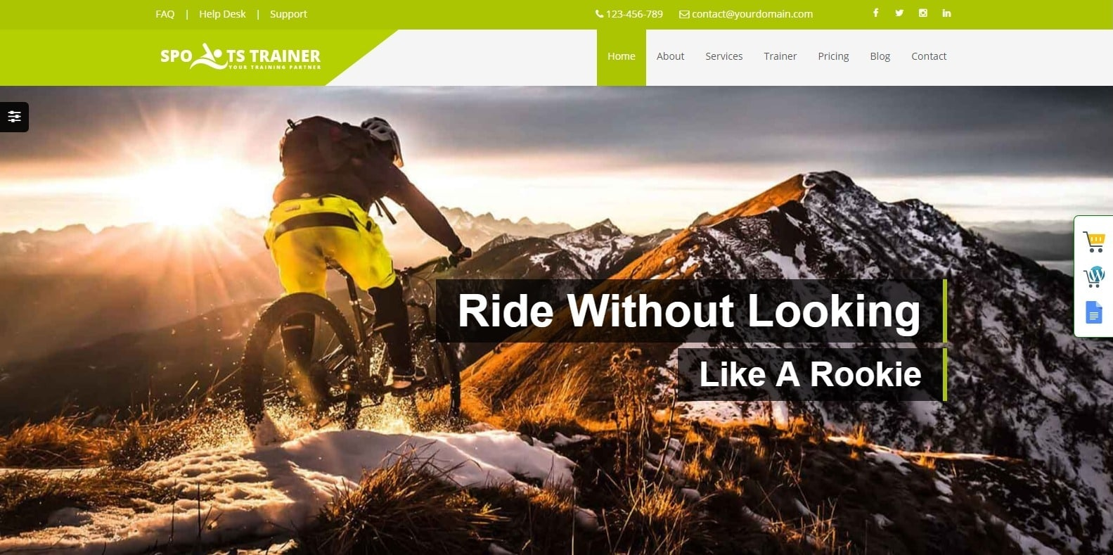 sports-trainer-coaching-website template