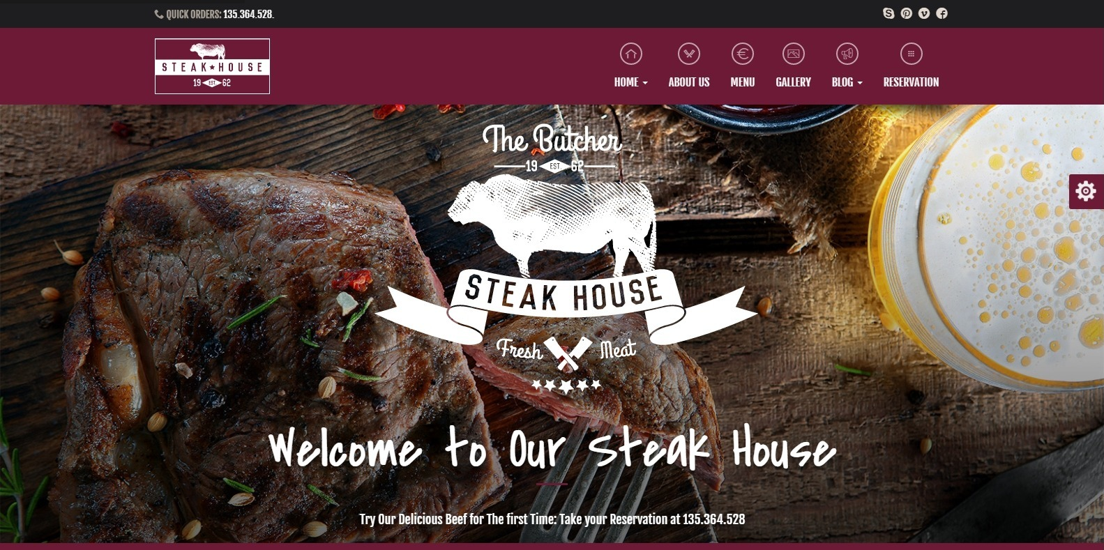 the-butcher-food-blog-website-template