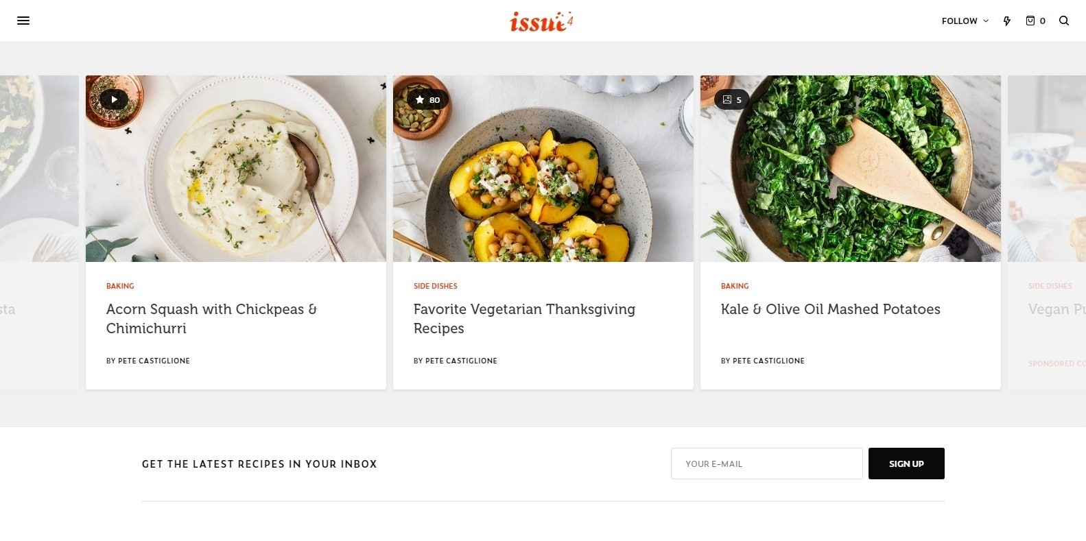 the-issue-food-blog-website-template