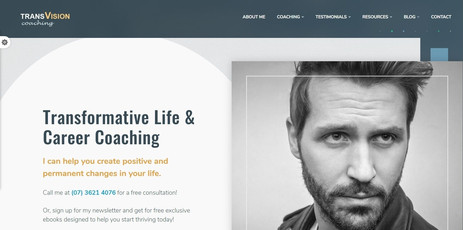transvision-coaching-website template