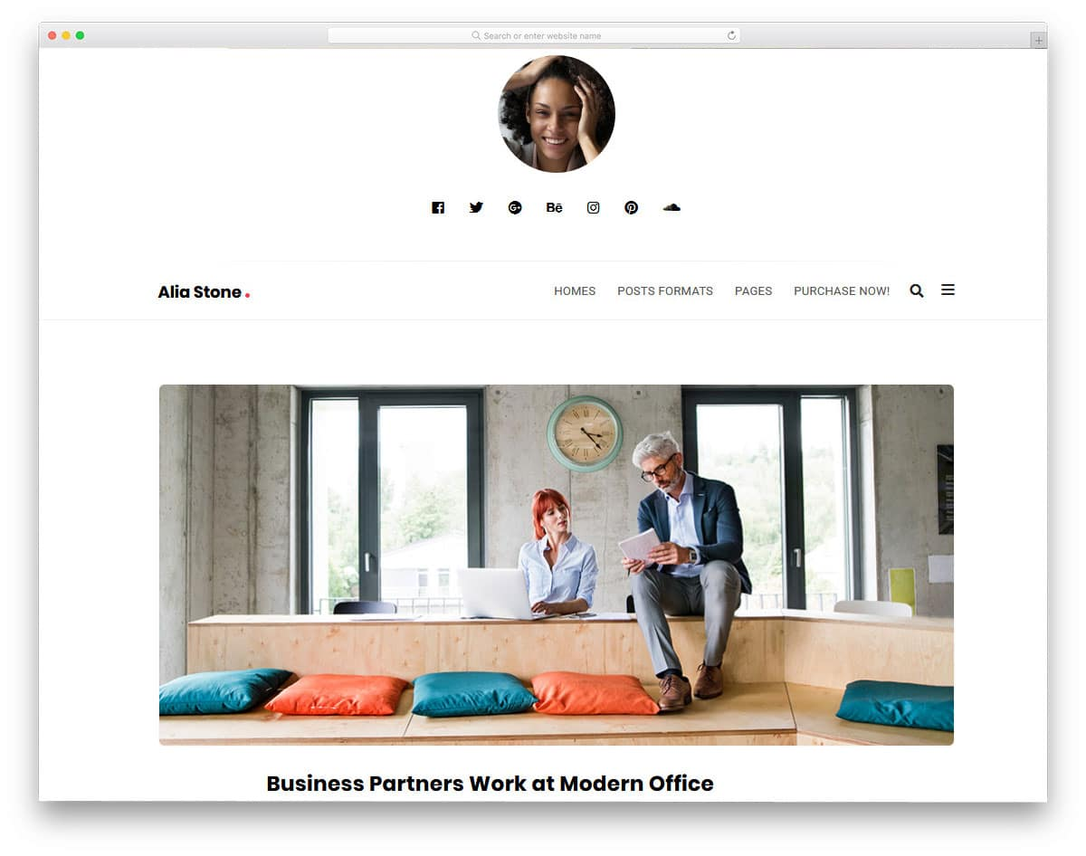 personal branding wordpress theme for bloggers
