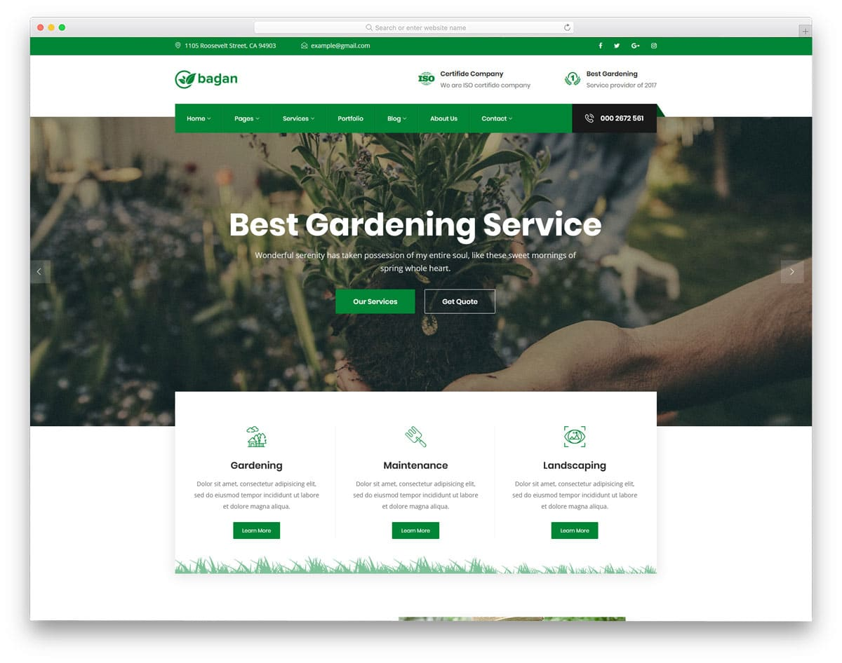 HTML landscaping website templates