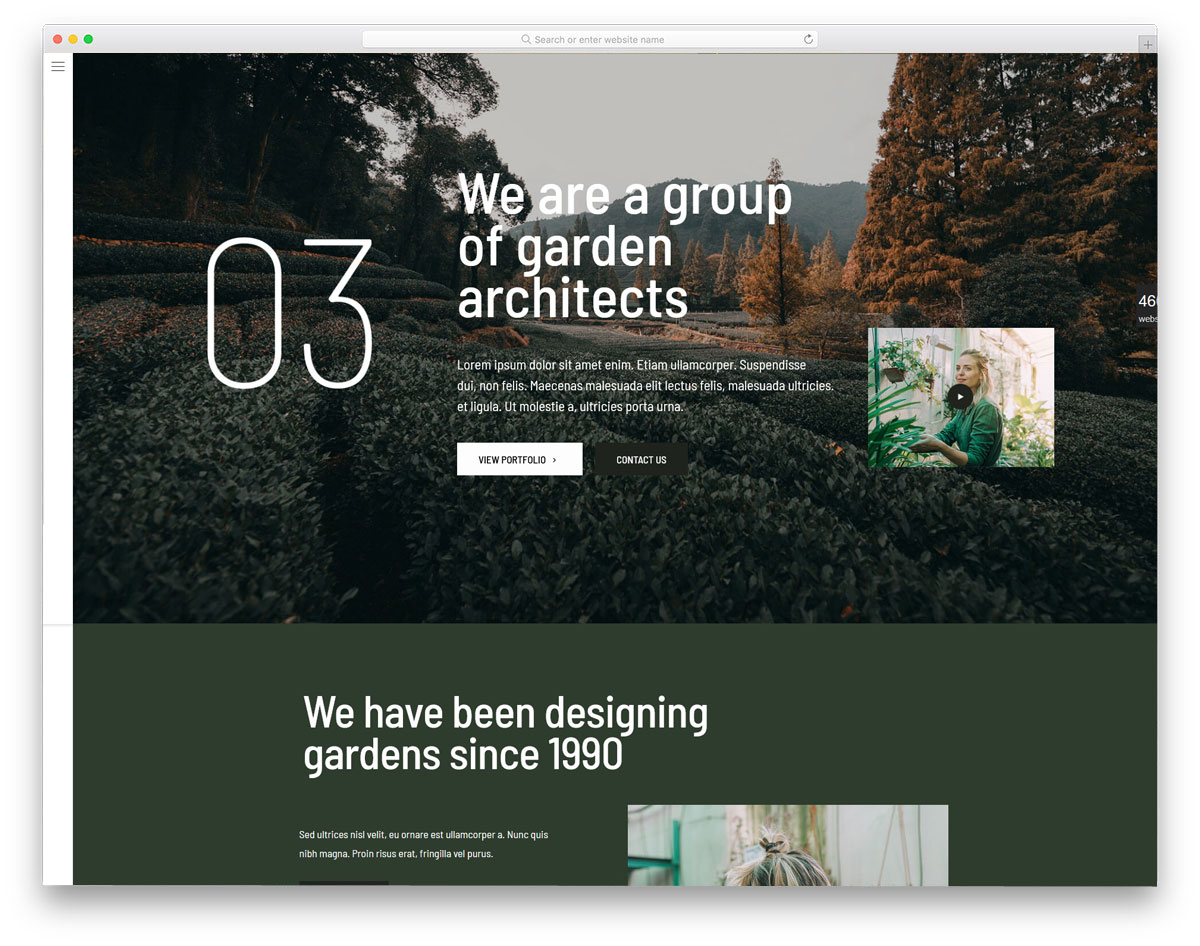 modern and trendy looking business wordpress theme
