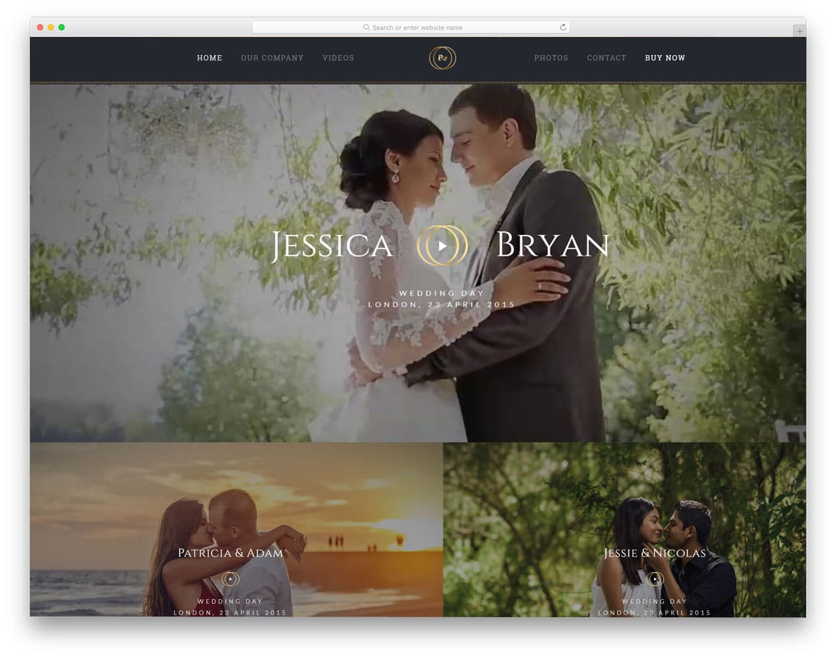 betheme wedding WordPress themes video background