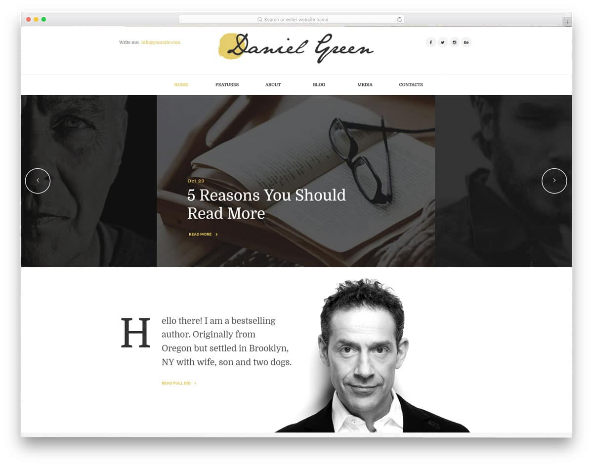 personal website for writers