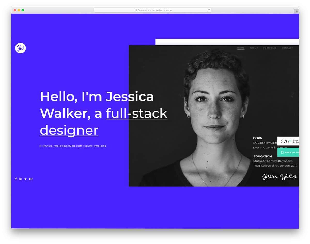 personal website with portfolio