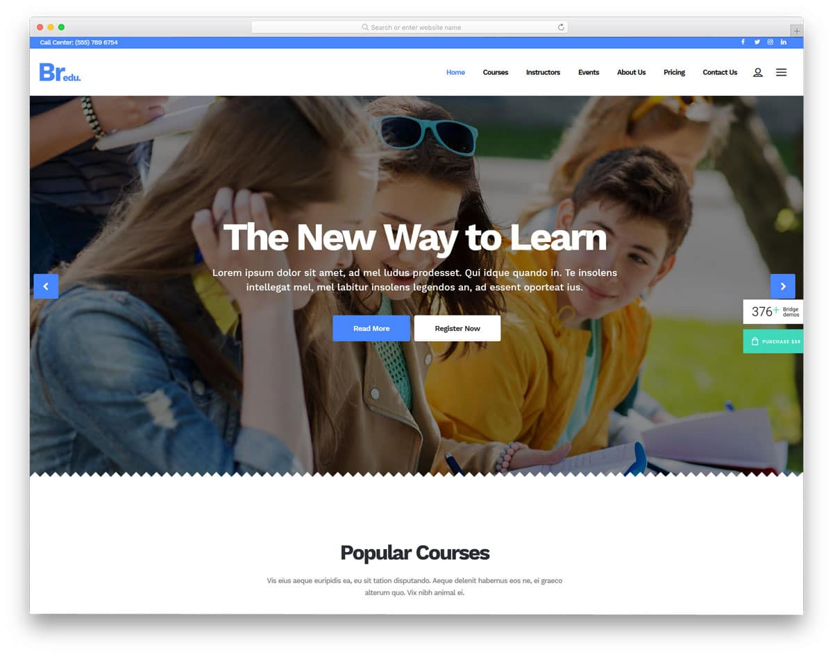 multipurpose education website WordPress theme