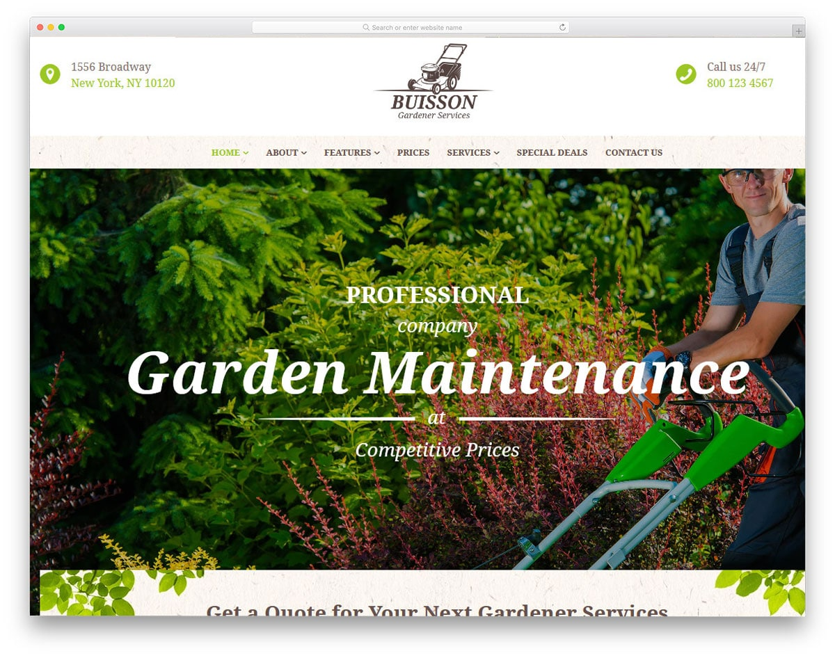gardening wordpress theme with useful features
