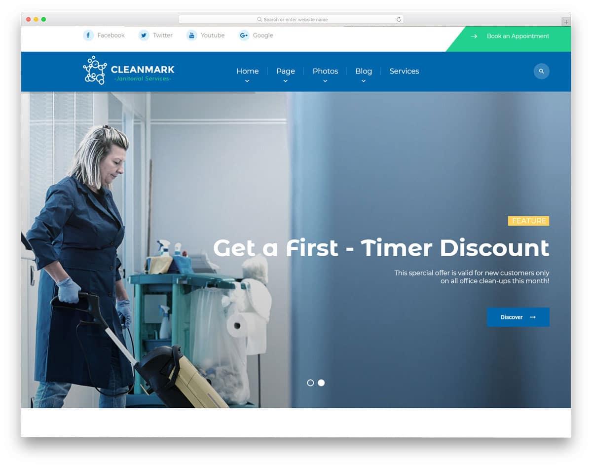 service providing business wordpress theme