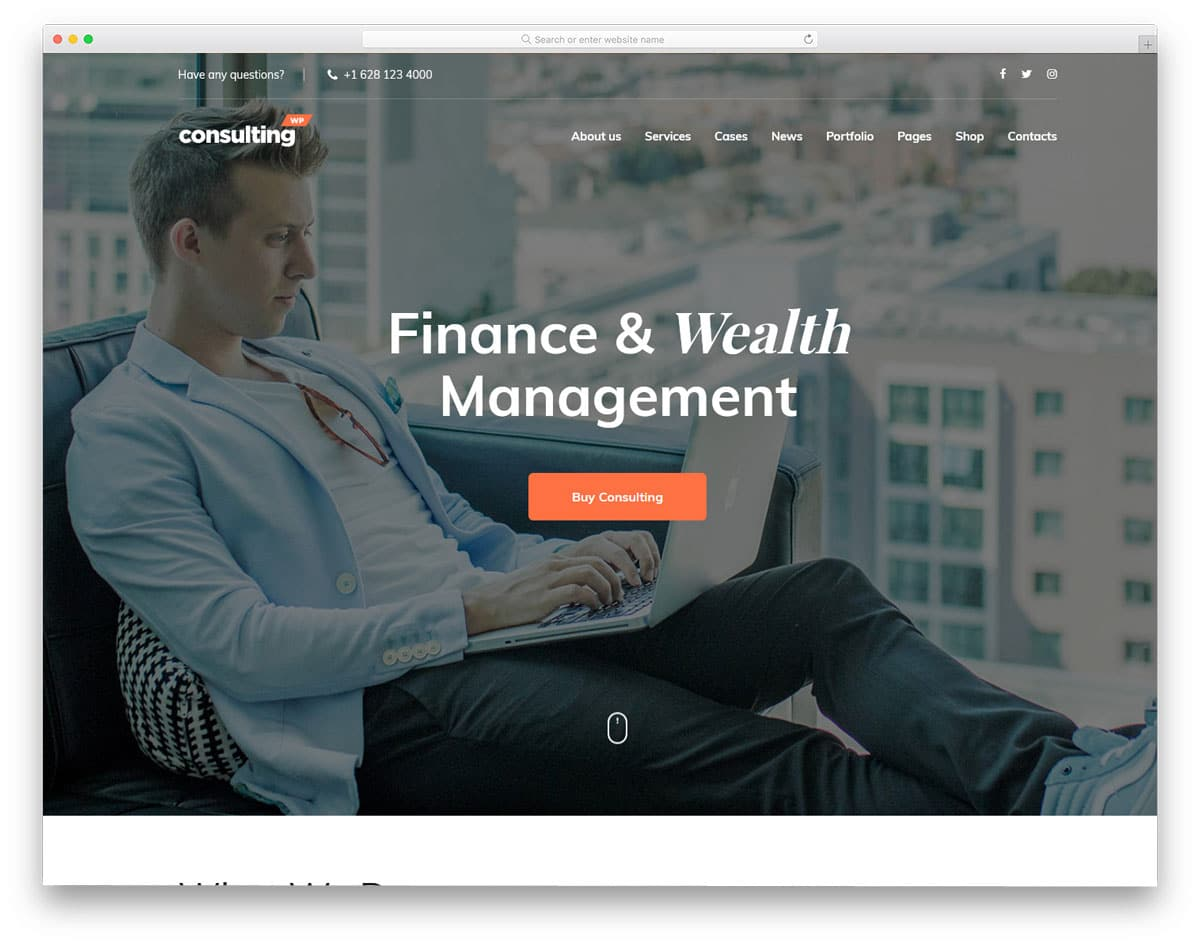 finance and administrative virtual assistant website templates