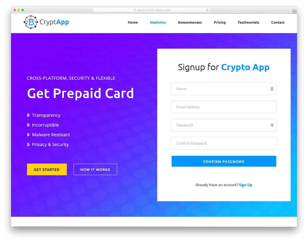 lead generation wordpress theme for crypto currency websites
