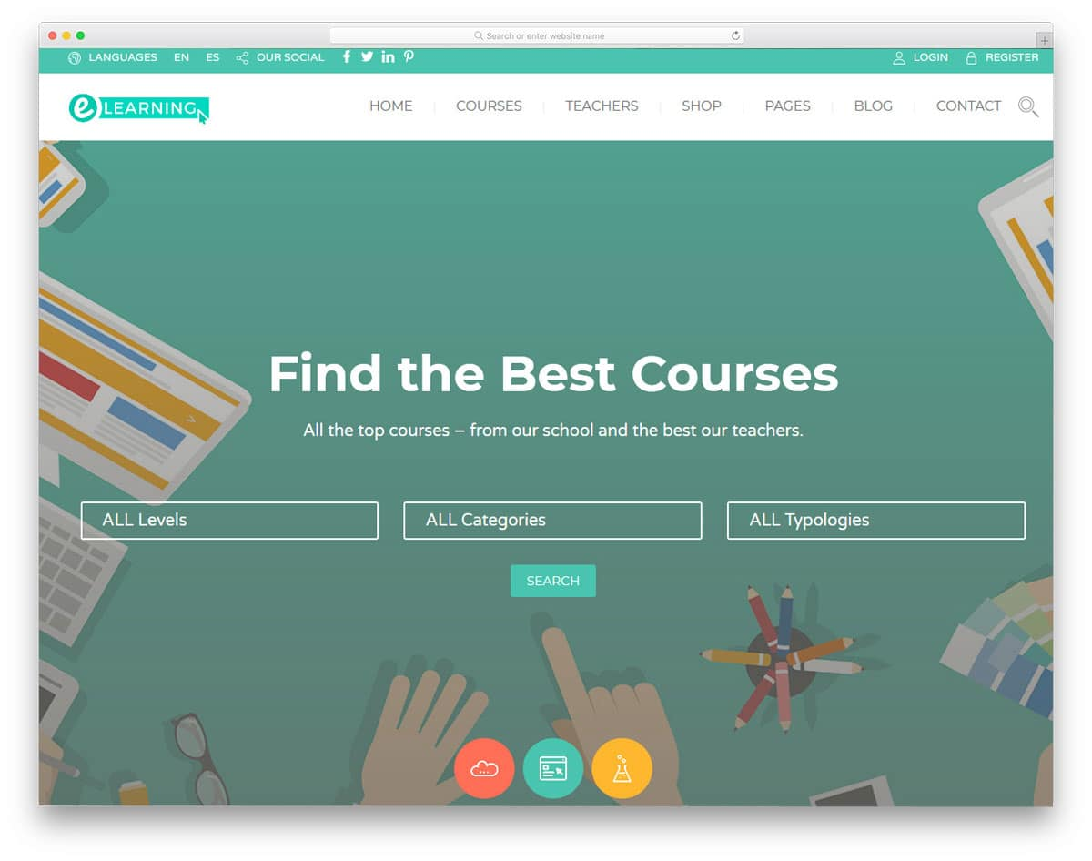 easy course handeling education wordpress theme