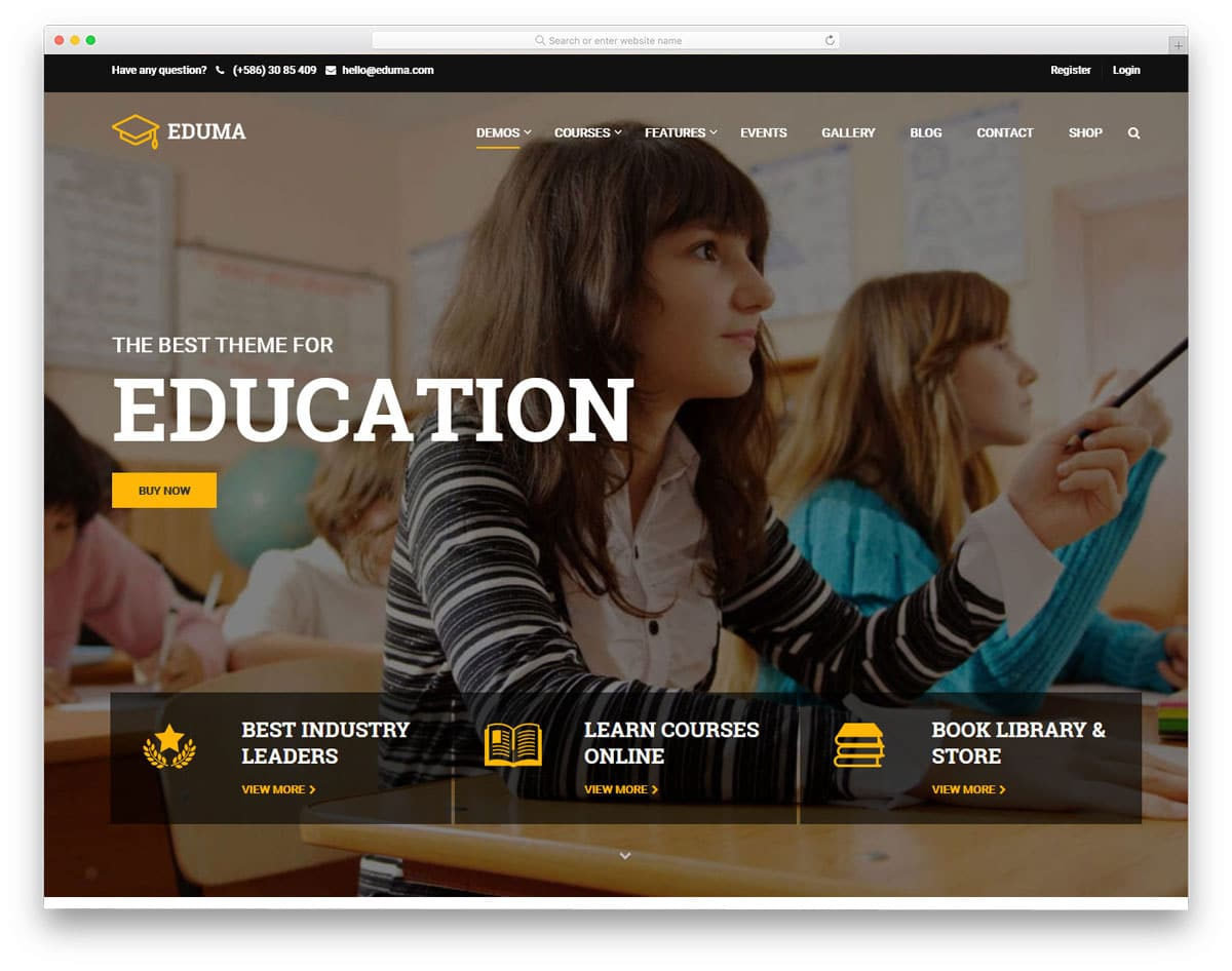 online course wordpress theme for students
