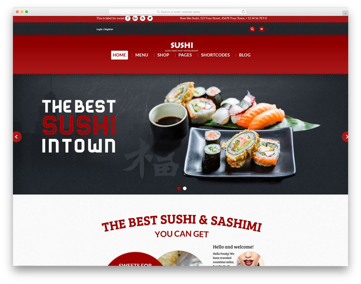 food truck WordPress themes with multiple demos