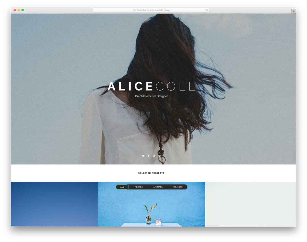 simple portfolio website template for creative professionals
