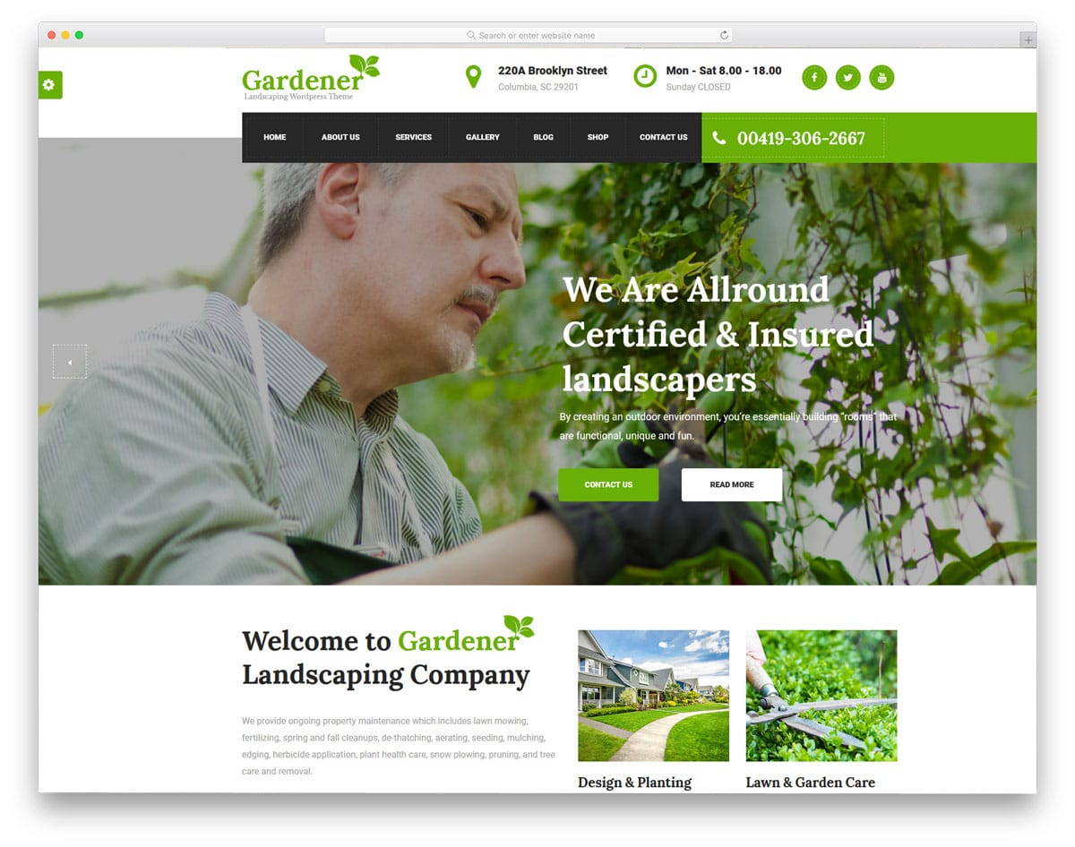 HTML version of Gardener theme