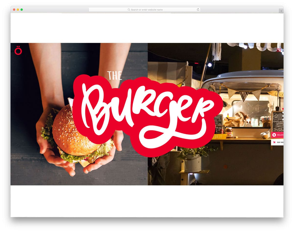 unique and interactive food truck WordPress themes