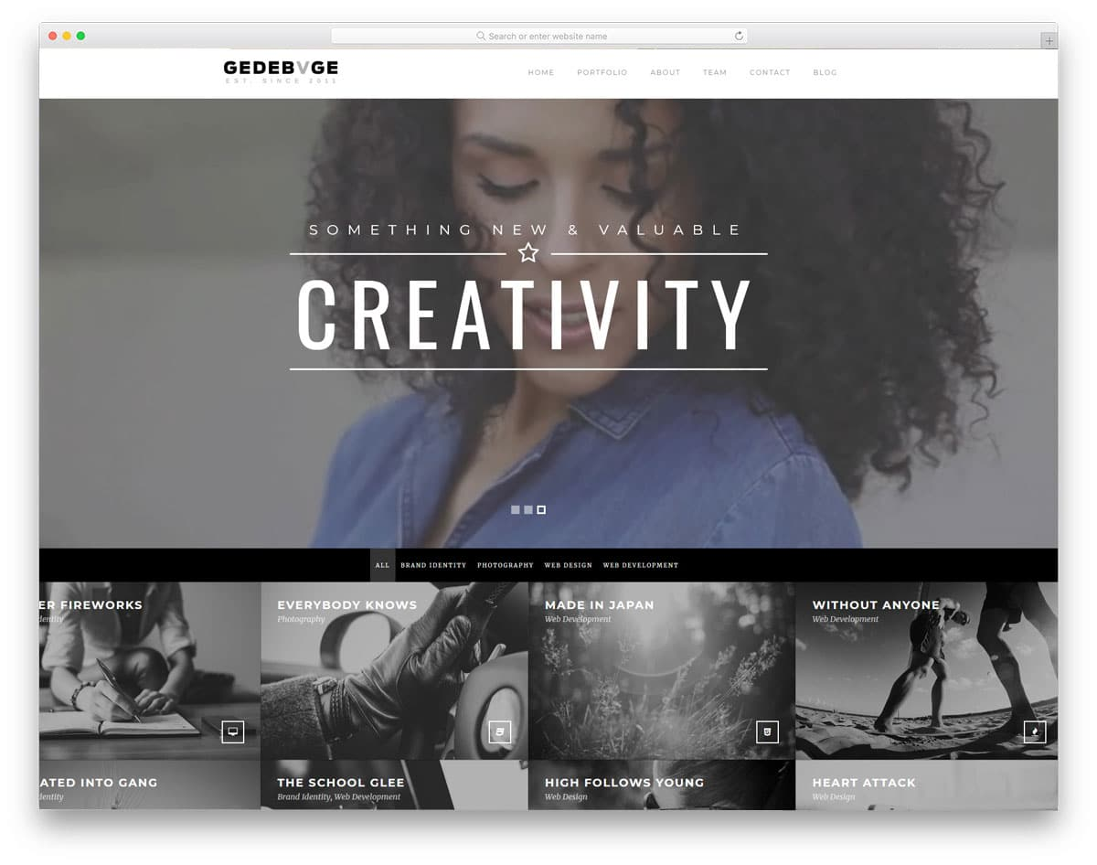 design and creative agency wordpress theme with video background