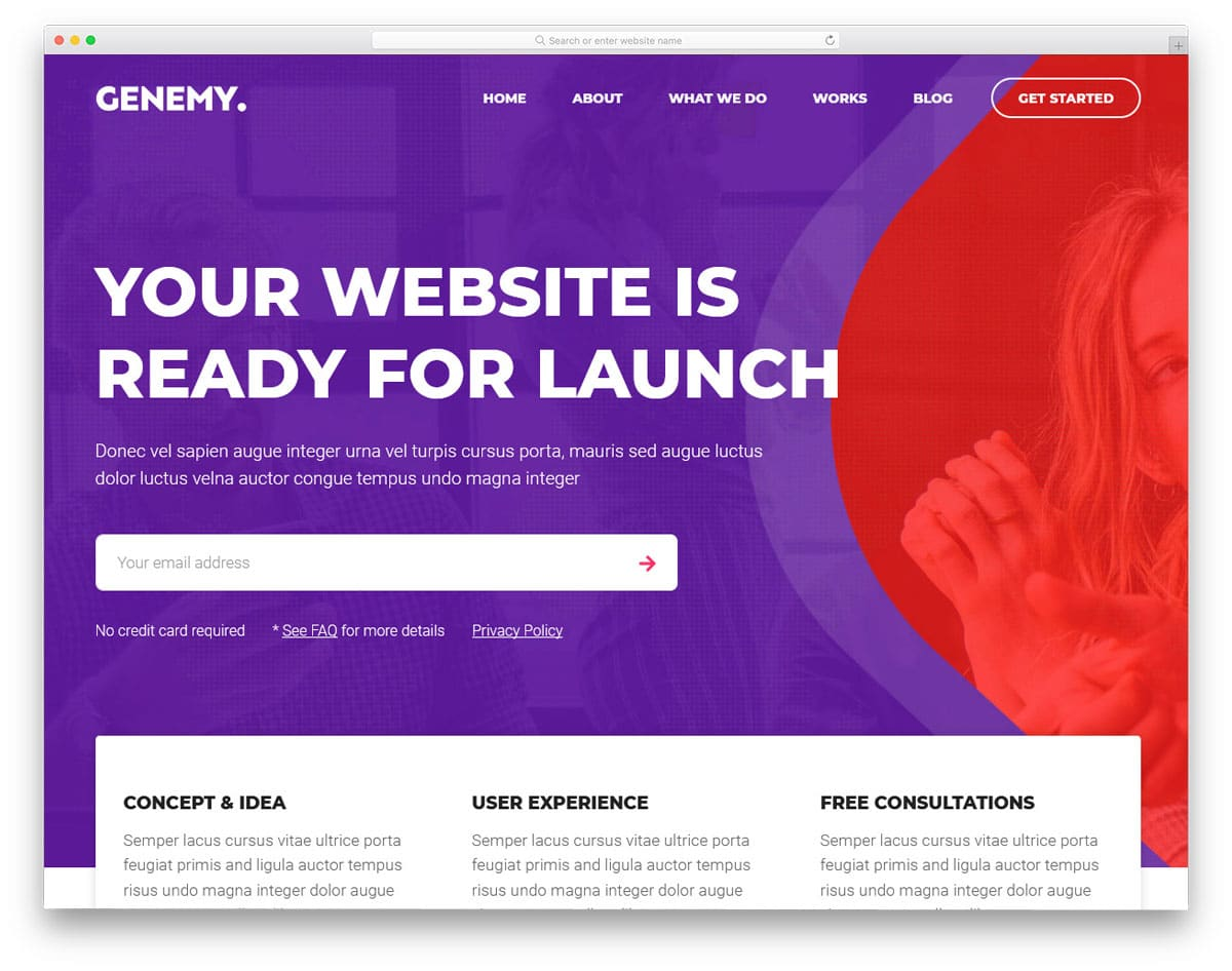 colorful and modern lead generation wordpress theme
