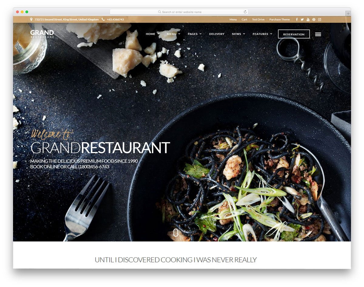 clean restauratnt WordPress themes