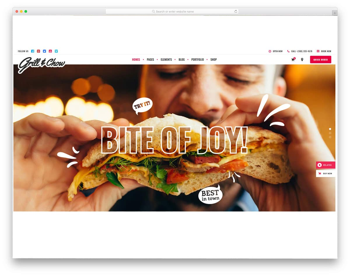 creative wordpress themes for fast foods and food trucks