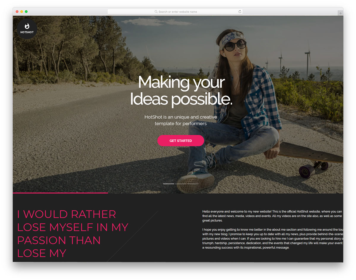 HTML personal website templates for creative professionals