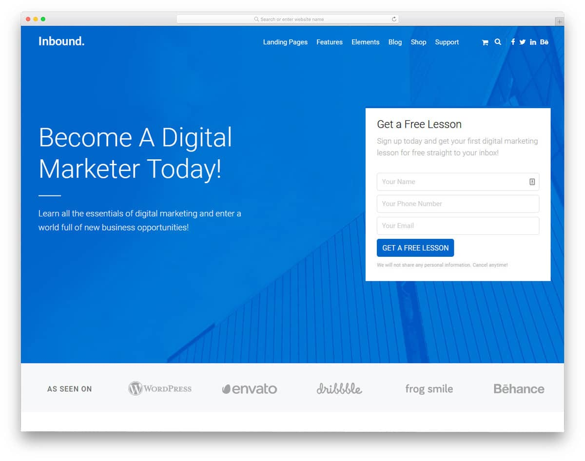 lead generation wordpress theme designed from a marketer perspective