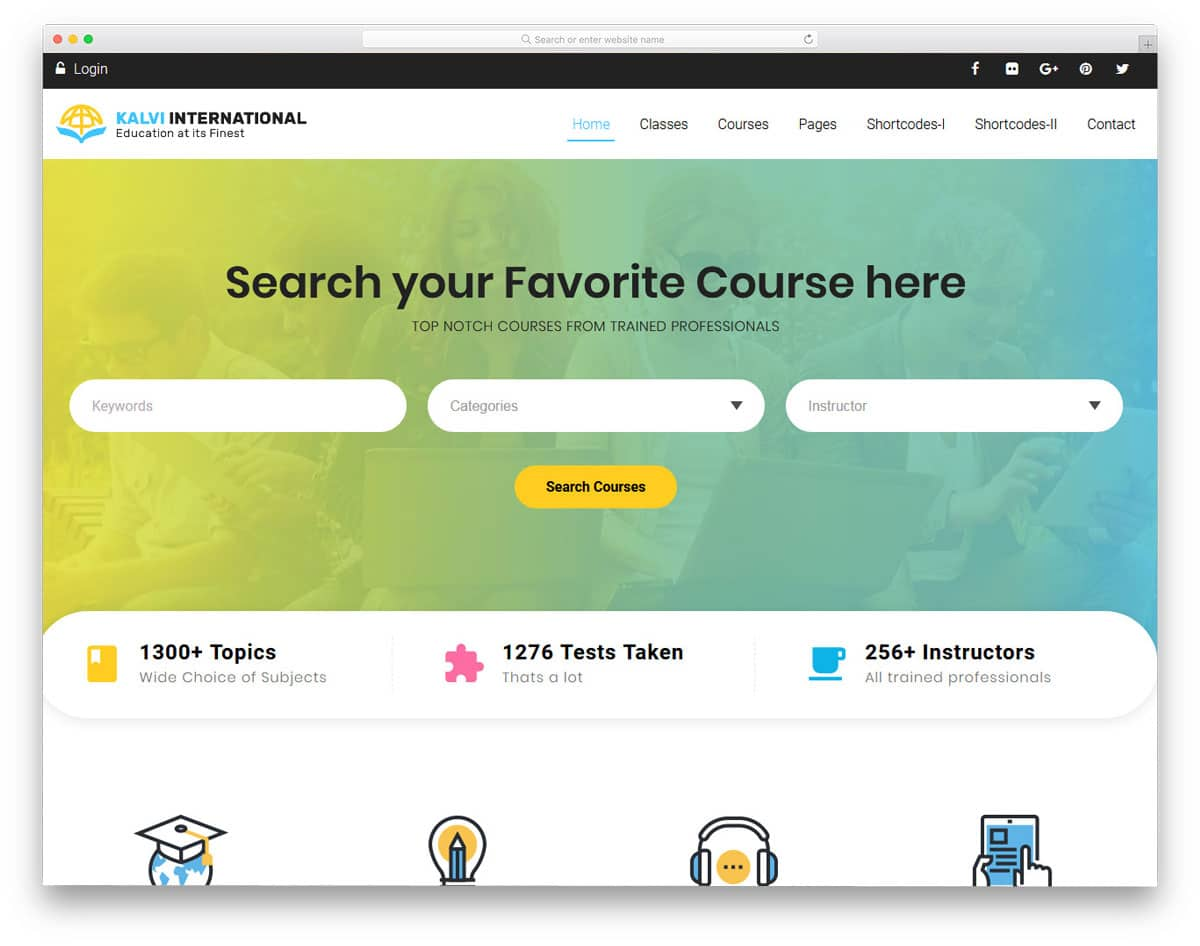 user-friendly online course wordpress theme