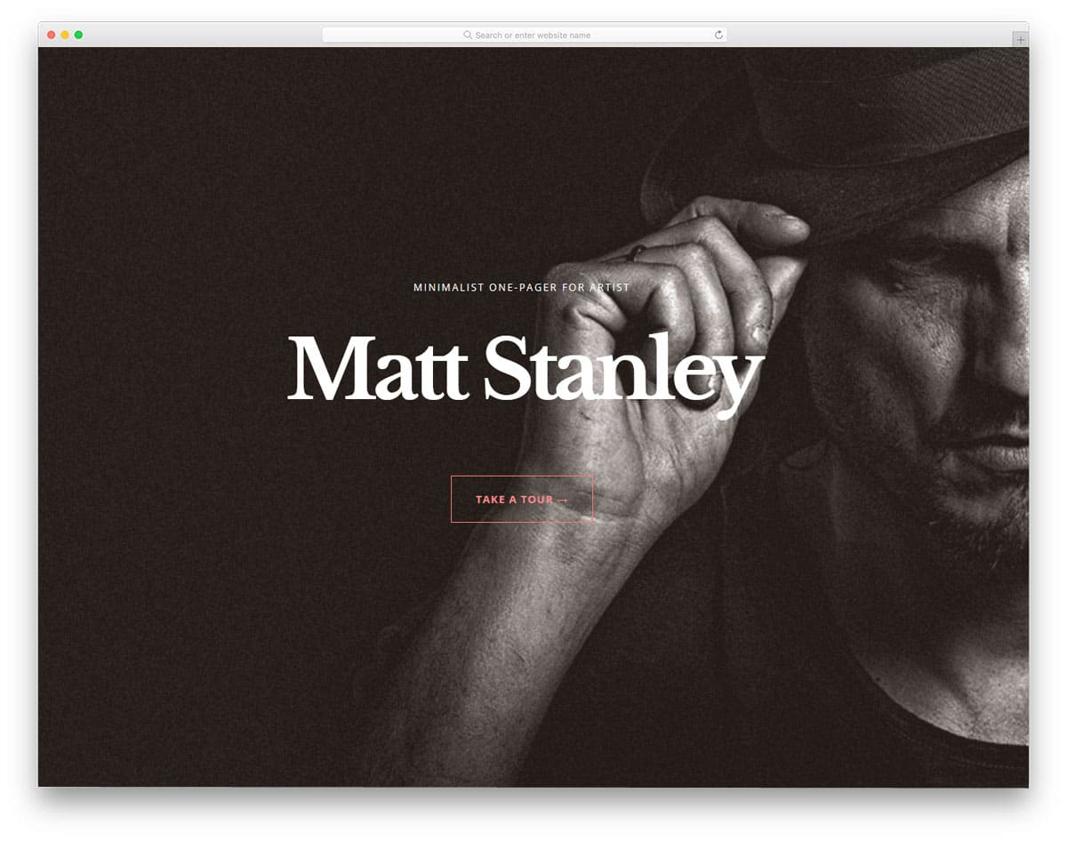 WordPress themes for actors and music artists