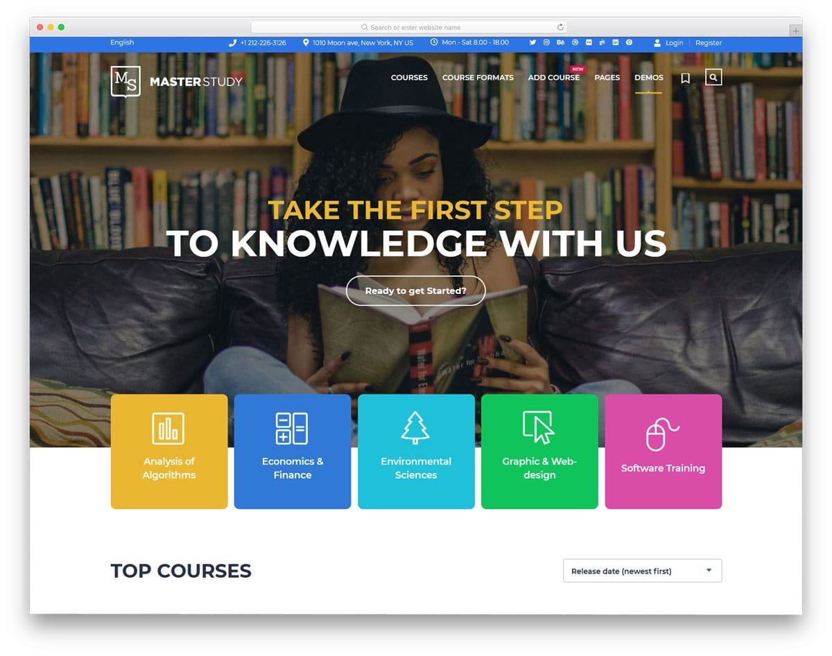 colorful and fully equipped education wordpress theme