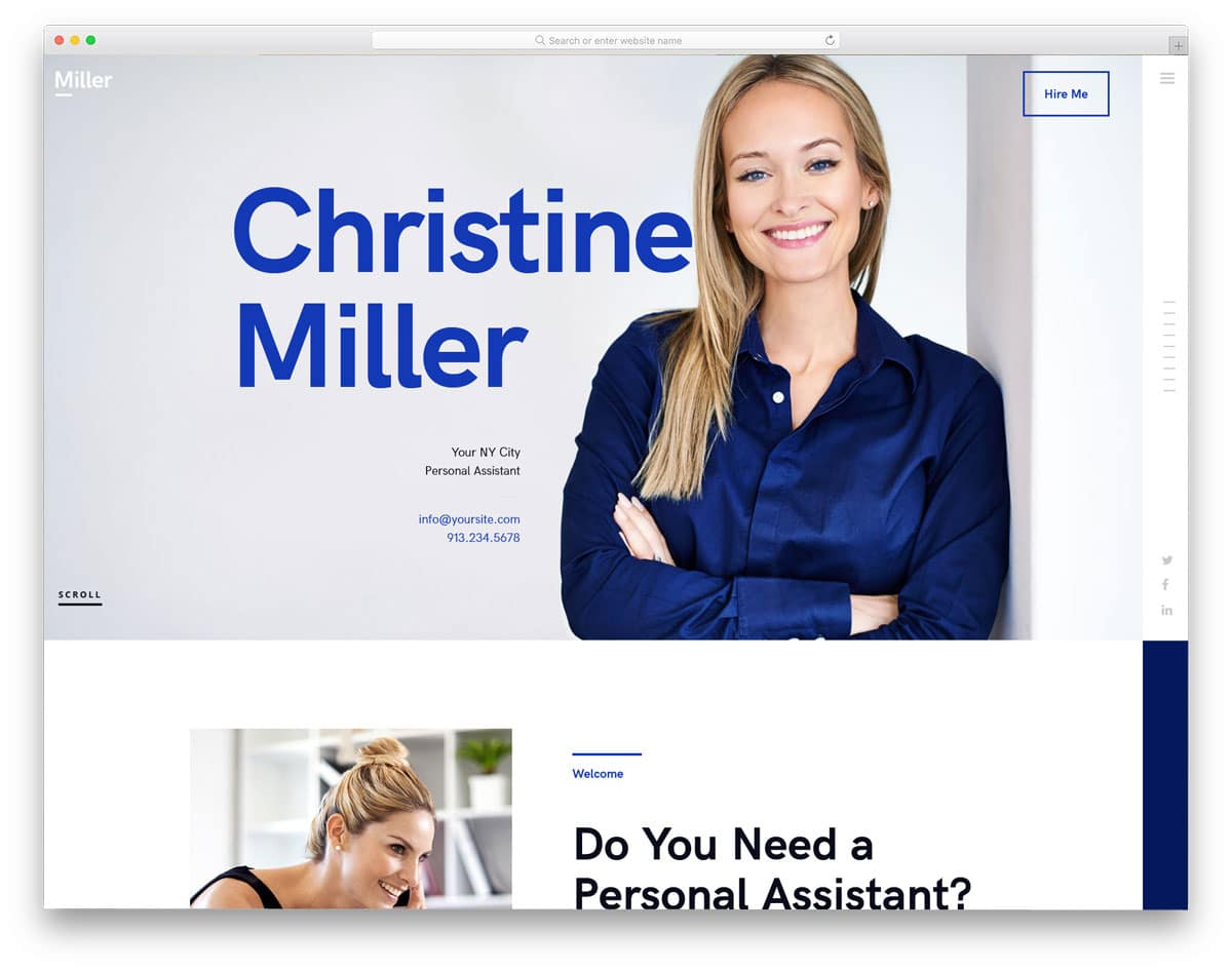 virtual assistant website templates for freelancers