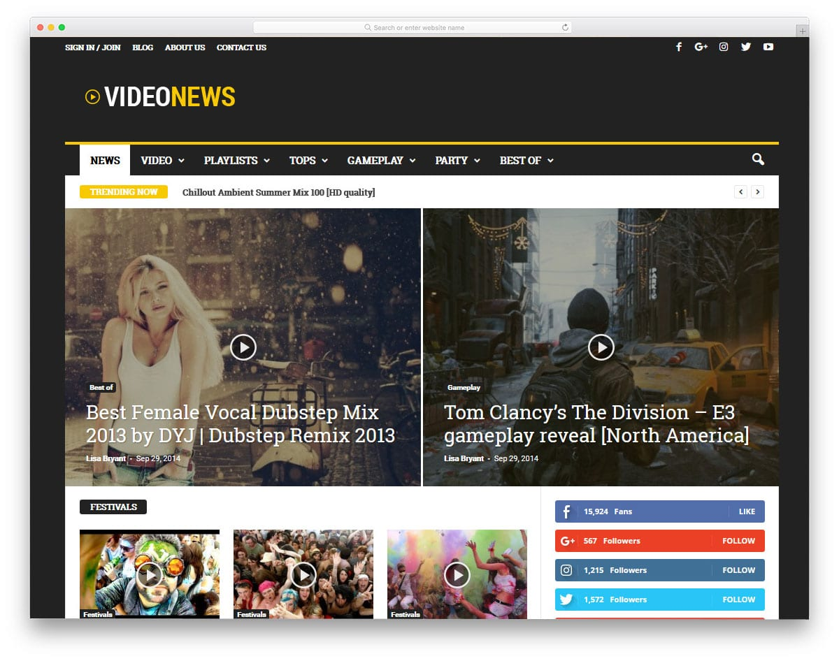 WordPress live streaming theme for news websites